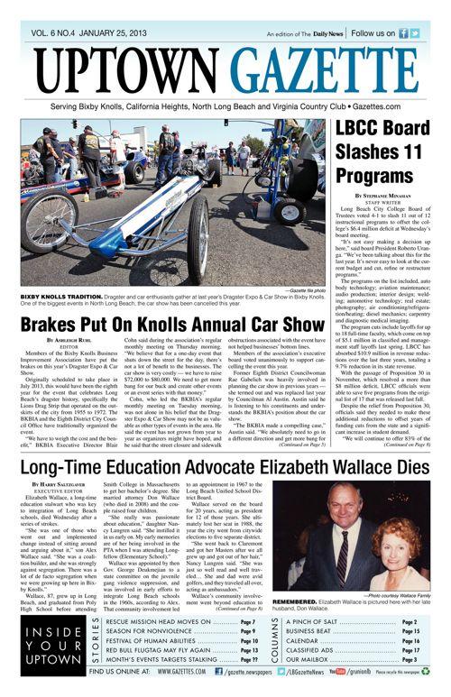 Uptown Gazette  |  January 25, 2013