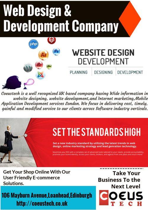 Web Design and Development Company Uk- Coeustech