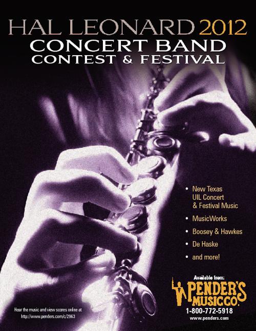 Hal Leonard 2012 Concert Band: Festival Music & UIL Sheet Music