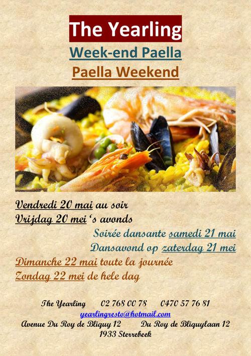 The Yearling - Week-end Paella du 20/5 au 22/5