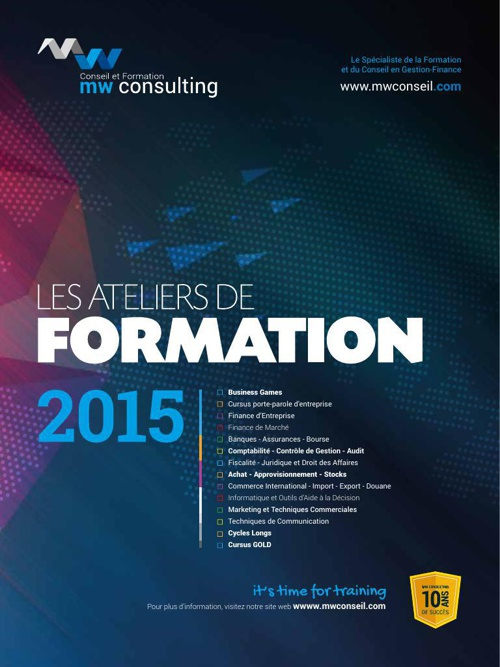 CATALOGUE MWCONSULTING FORMATION 2015