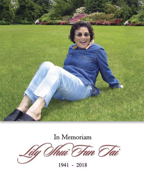 Memorial Card: Lily Shui Fun Tai