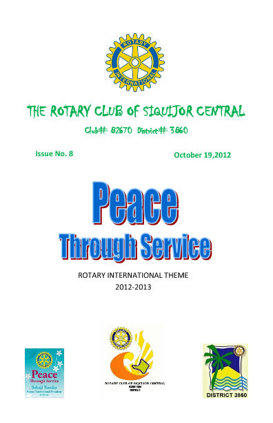 Rotary Club of Siquijor Central - Weekly Club Bulletin #8 issue