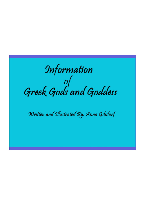 Information of Greek Gods and Goddess