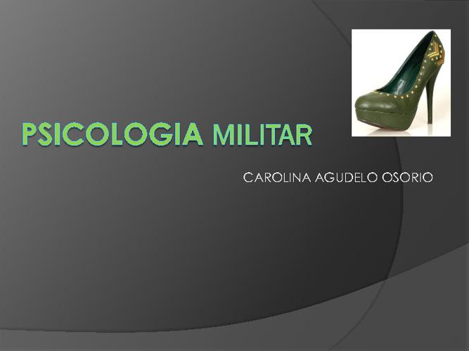 PSICOLOGIA MILITAR