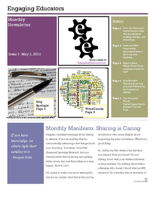 Engaging Educators May Newsletter