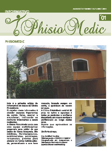 PhisioMedic Informativo Nº01