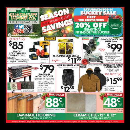Guadalupe Lumber Co. Season Savings