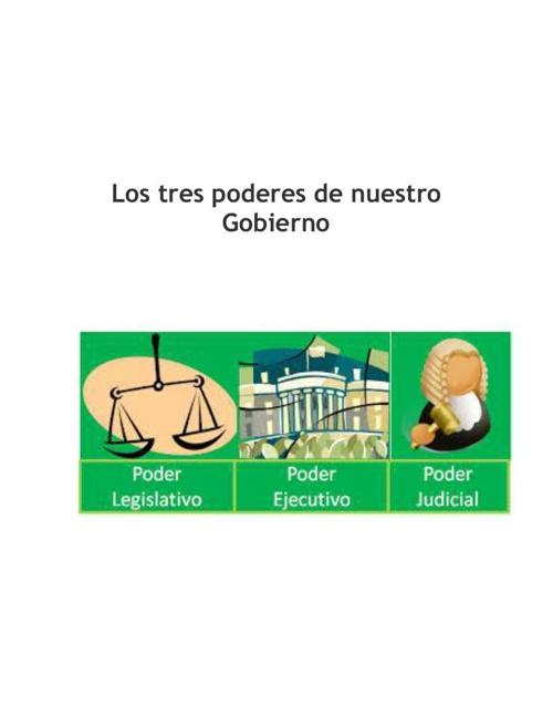 Los tres poderes de nuestro Gobierno