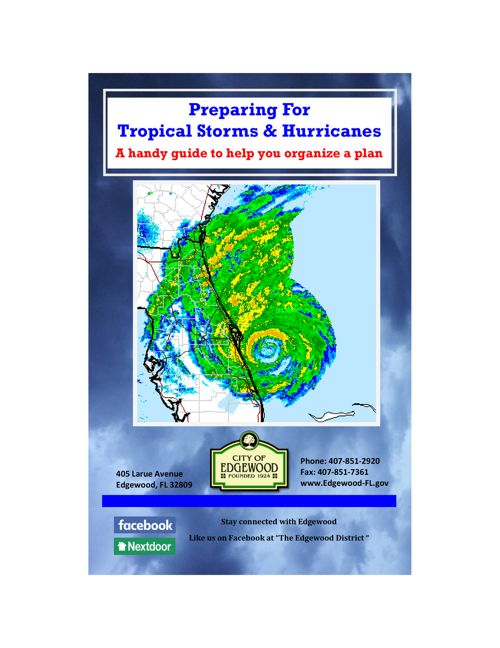 City of Edgewood Hurricane Preparedness