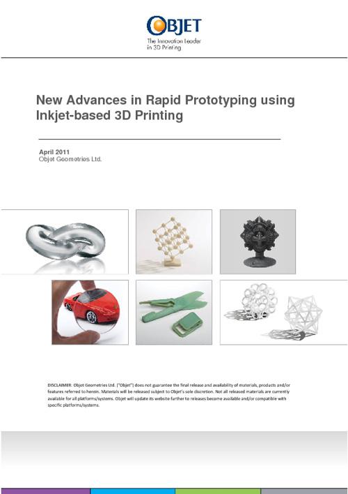 New Advances in Rapid Prototyping