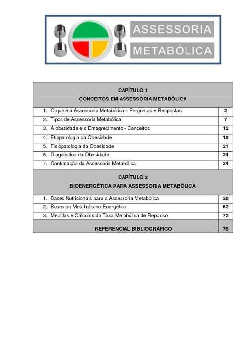 ASSESSORIA METABÓLICA - EMAGRECIMENTO CONTROLADO