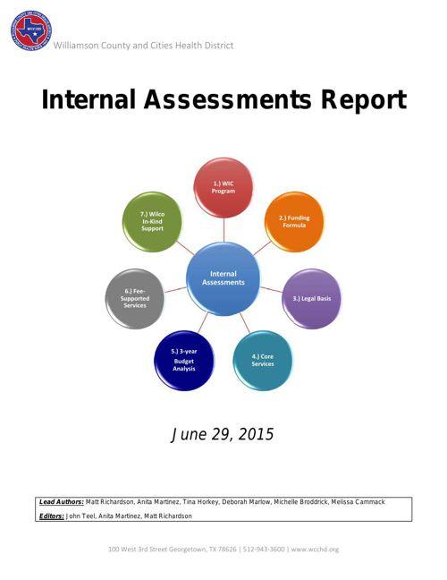 WCCHD Internal Assessments Report - v1_0 June 29 2015