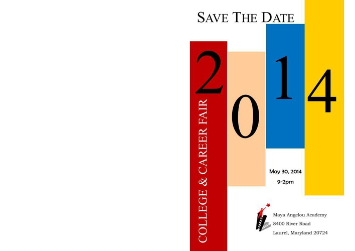 Save the Date Invitation for Maya Angelou Academy's 5th Annual C