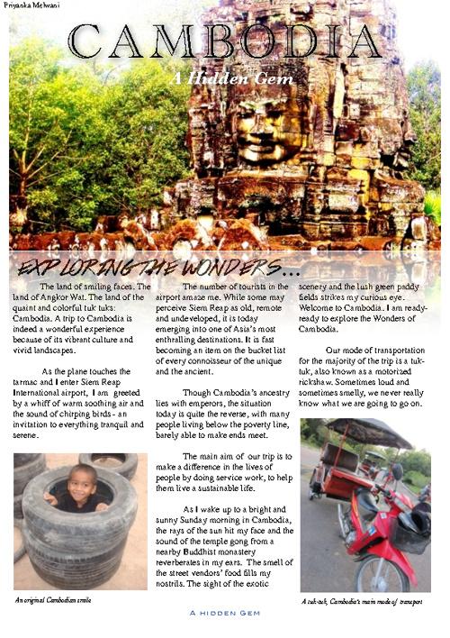 Cambodia Travel Article
