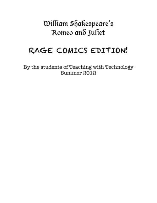 Romeo and Juliet: Rage Comics Edition