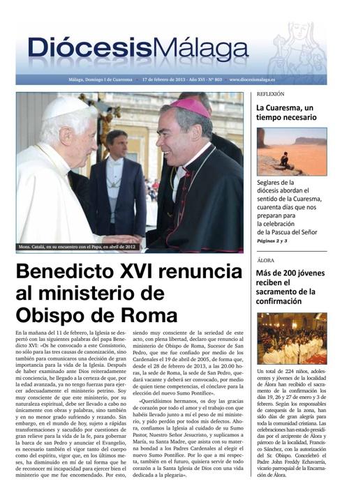 Diócesis Málaga Nº 803 (17/2/2012)