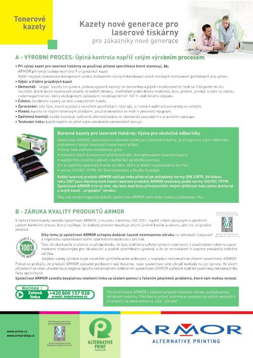 Produktovy list - tonerove kazety
