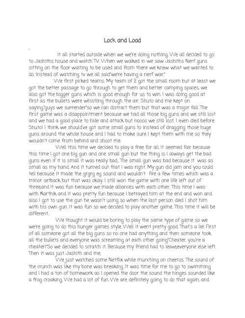Middle School Diaries: Sathvik Sagi Writing Portfolio