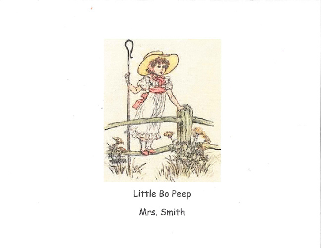 Little Bo Peep - Smith