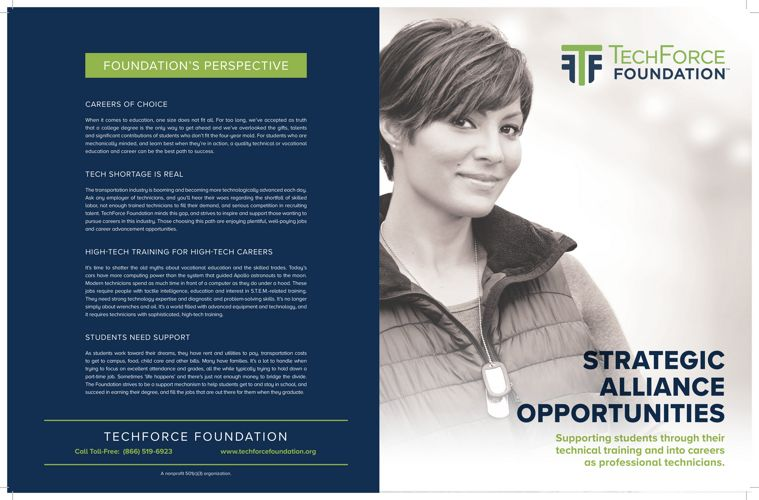 TechForce Foundation: Technician Scholarships & FutureTech Succe