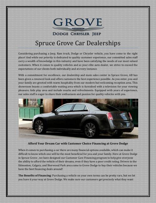 Spruce Grove Car Dealerships
