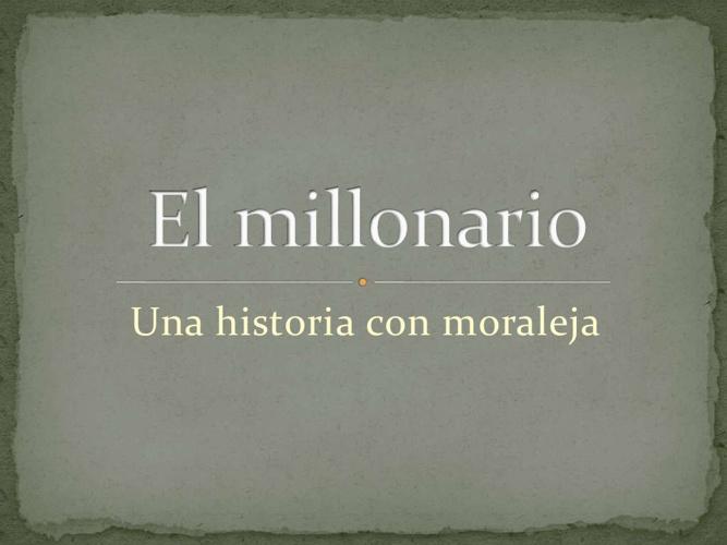 El Millonario