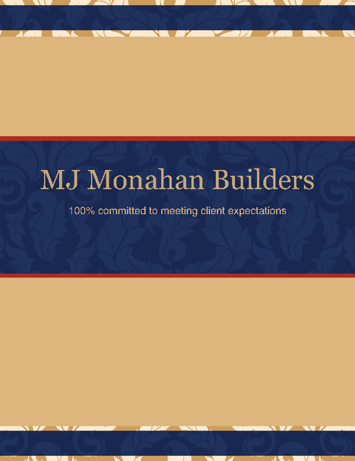 MJ Monahan Builders Photo Book 2012
