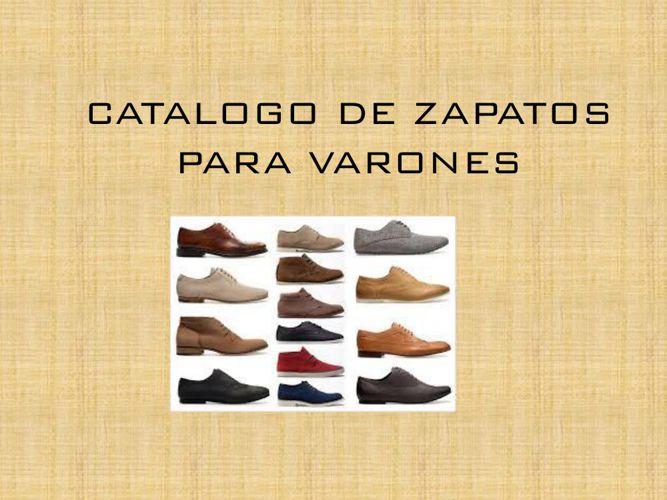 CATALOGO DE ZAPATOS PARA VARONES