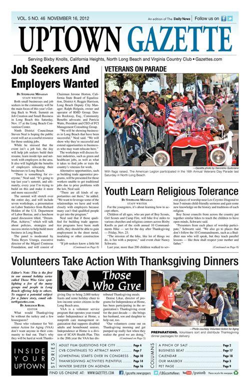 Uptown Gazette  |  November 16, 2012