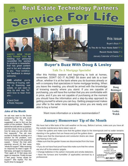 RETP January Newsletter