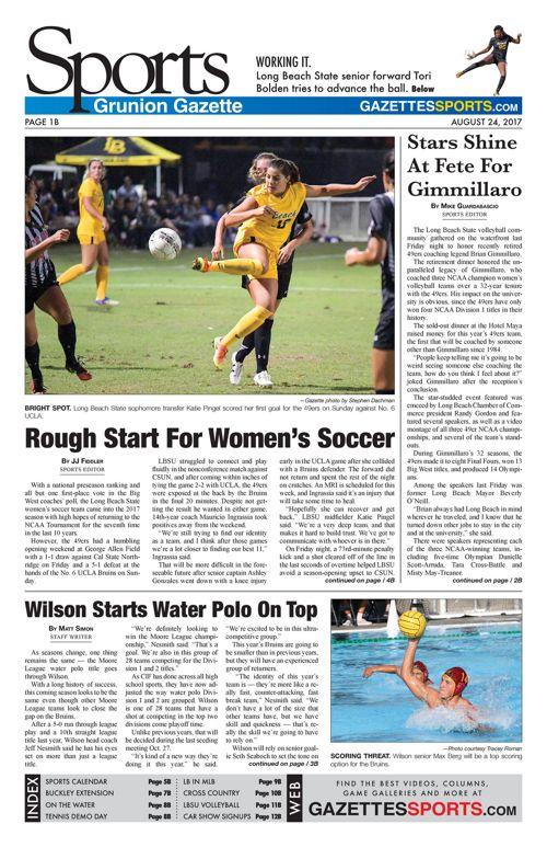 Gazette Sports   August 24, 2017