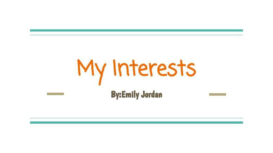 my interests (1)