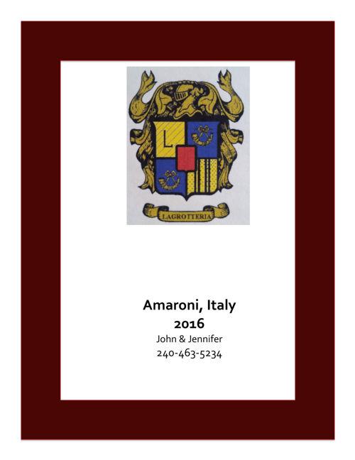 Amaroni, Italy 2016