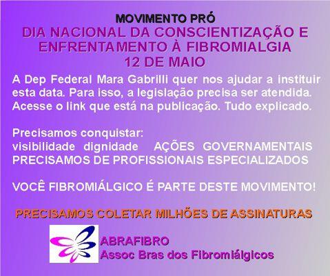 MOVIMENTO PRÓ DIA NACIONAL da FIBROMIALGIA - 12 de Maio