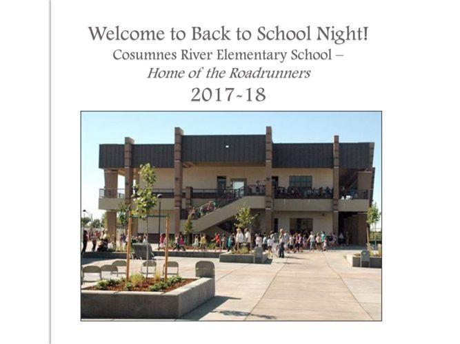 Back to School Night, 2017-18