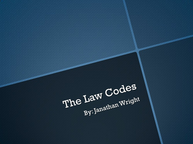 The Law Codes