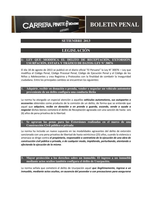 BOLETÍN PENAL -  CLIENTES