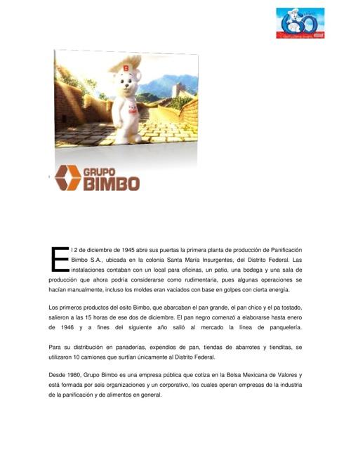 GRUPO 5 BIMBO