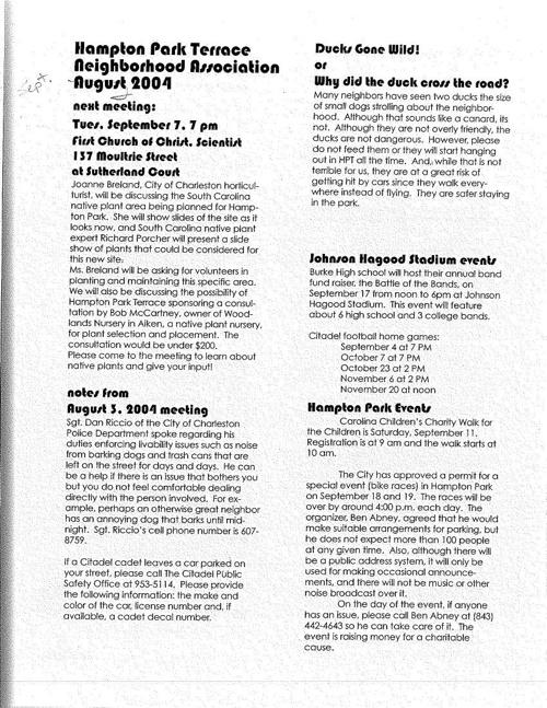 HPT Newsletter September 2004