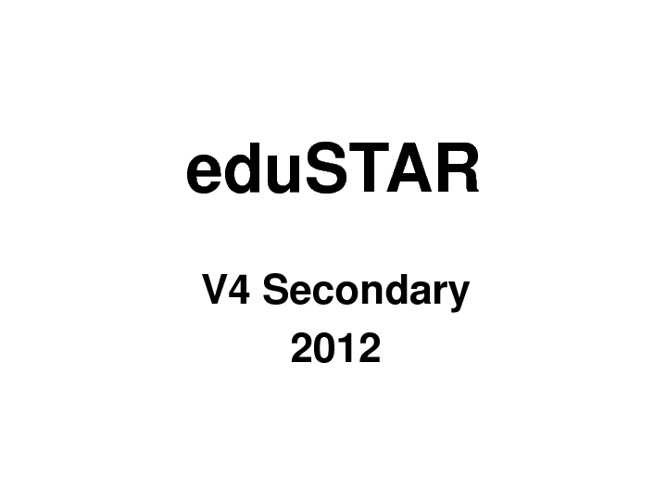 Edustar V4 Secondary