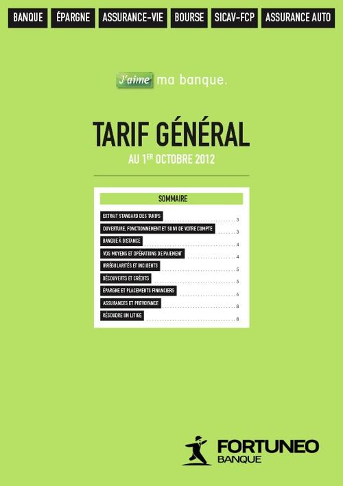 Fortuneo tarifs