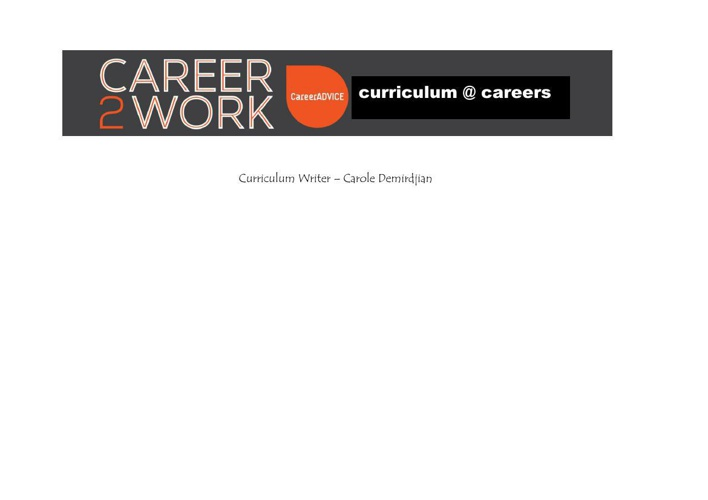 c2w curriculum@careersdocx