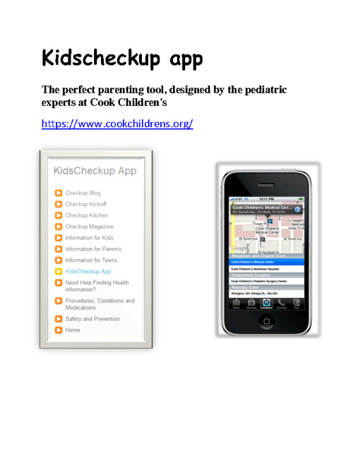 Kid's Health Resources On the Web