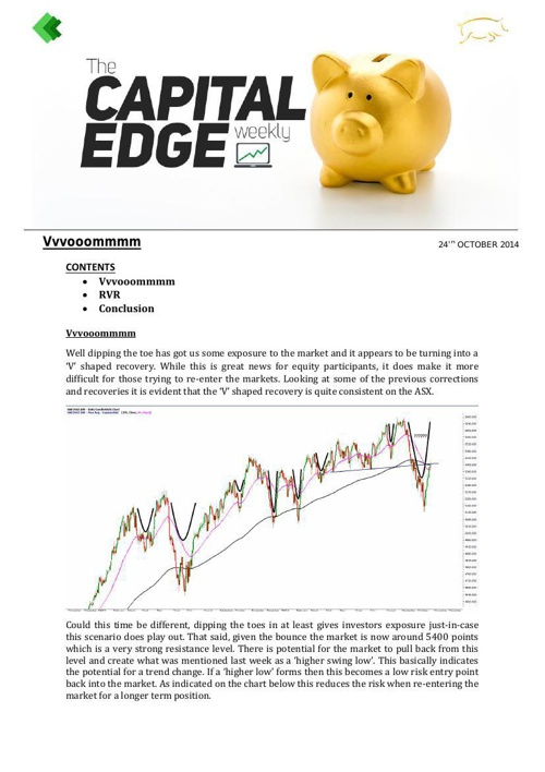 CAP EDGE WEEKLY 24th october