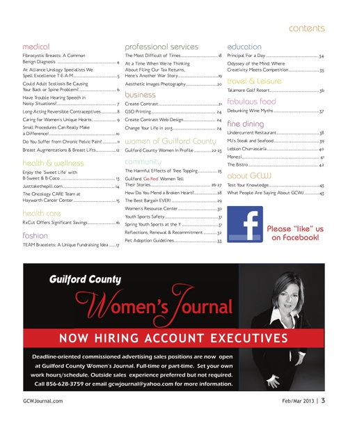 Guilford County Women's Journal Feb/Mar 2013