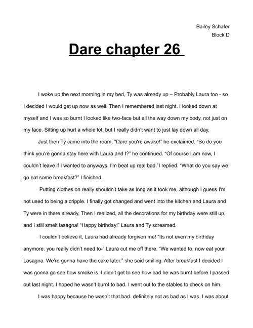 Dare Ending