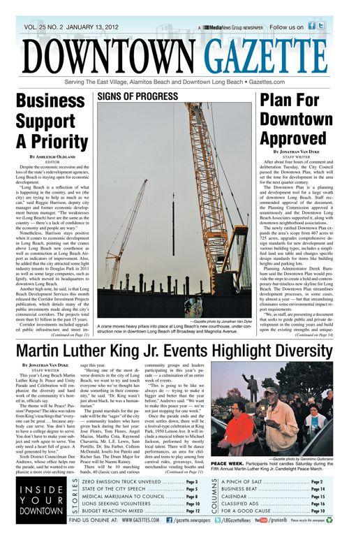 Downtown Gazette  |  January 13, 2012