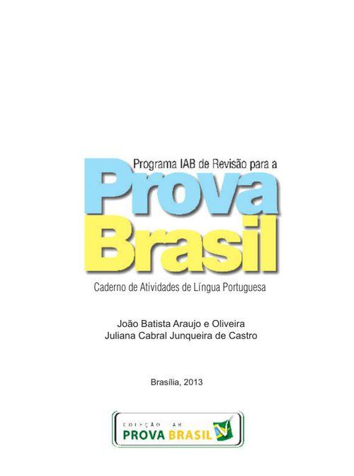 Caderno de Atividades Português - Prova Brasil