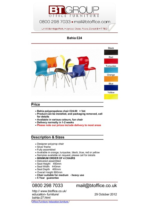 Meeting & Boardroom Seating (Products 1-50)